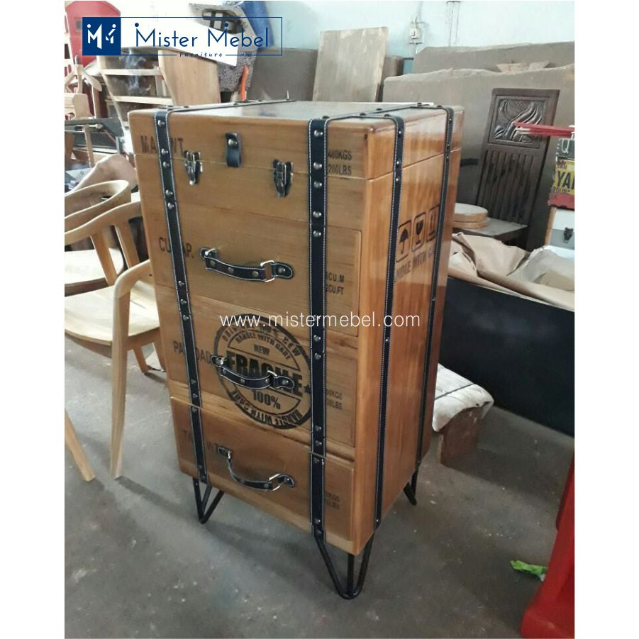 Italian Sofa Jakarta: Jual Drawer Cabinet Vintage Retro Jati Model Koper Murah